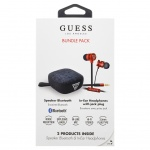 GUBPERSPRE Guess Bundle In-Ear Headphones + Bluetooth Speaker Red (EU Blister), 2442736