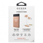 GUBPERPBTRG Guess Bundle In-Ear Headphones + PowerBank 4000mAh Rose Gold (EU Blister), 2442738