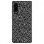 Nillkin Synthetic Fiber Ochranný Zadní Kryt Plaid Black pro Huawei P30, 2445680