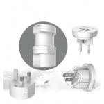 USAMS Multi Socket Universal Dobíjecí Adapter White (EU Blister), 28856
