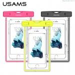 "USAMS Luminous Vodotěsné Pouzdro Green pro Smartphone 6"", 30746"