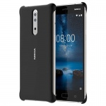 CC-801 Nokia Soft Touch Case Black pro Nokia 8 Black (EU Blister), 2437009
