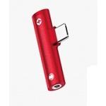 USAMS SJ277 Audio Adapter 3,5mm/Type C Red (EU Blister), 2442280