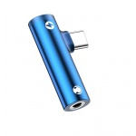 USAMS SJ277 Audio Adapter 3,5mm/Type C Blue (EU Blister), 2442282