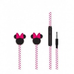 Disney Stereo Sluchátka 3.5mm Minnie Matt Pink 3D, 2443442