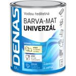 DENAS UNIVERZÁL-MAT vrchní barva na dřevo, kov a beton, 0100 bílá, 700 g