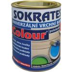 Sokrates Colour pololesk univerzální vrchní barva na dřevo a kov, 0199 černá, 0,7 kg