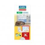 Mako Star P gumové těsnění oken a dveří, bílá, rozměry 6 m x 9 mm x 5,5 mm