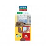 Mako Star P gumové těsnění oken a dveří, hnědá, rozměry 6 m x 9 mm x 5,5 mm