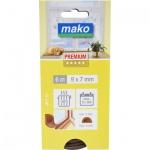 Mako Star D gumové těsnění oken a dveří, hnědá, rozměry 6 m x 9 mm x 7 mm