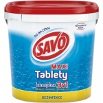 Savo Maxi 3v1 komplex chlorové tablety pro celosezonní dezinfekci a údržbu bazénu, 4 kg