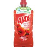 Ajax Floral Fiesta Red Flowers, univerzální pro veškeré plochy v domácnosti, vůně vlčích máků, 1 l