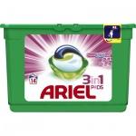 Ariel Touch of Lenor Fresh 3v1 gelové kapsle na bílé i barevné prádlo, 14 ks