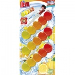 Dr. Devil WC Bicolor 5ball lemon fresh závěsný WC blok, 3 × 35 g