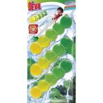 Dr. Devil WC Bicolor 5ball natur fresh závěsný WC blok, 3 × 35 g