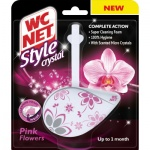 WC NET Style Crystal Pink Flowers WC závěs, 36,5 g