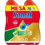 Somat Gold gel odmašťovač 76 dávek, 2 × 684 ml