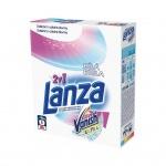 Lanza Vanish Ultra 2v1 Bílá prací prášek s odstraňovačem skvrn na bílé prádlo, 4 dávky, 300 g