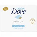 Dove Baby Rich Moisture tuhé mýdlo, 75 g