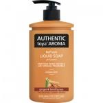 Authentic Toya Aroma ginger & lemongrass tekuté mýdlo, 400 ml