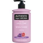 Authentic Toya Aroma grapes & grapefruit tekuté mýdlo, 400 ml