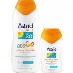 Astrid Sun OF30 dětské mléko na opalování, 200 ml + Astrid Sun OF10 hydratační mléko na opalování, 100 ml