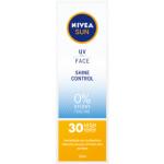 Nivea Sun UV & Face Shine control OF 30 zmatňující pleťový krém na opalování, 50 ml