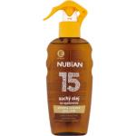 Nubian OF15 Sprej suchý olej na opalování, 200 ml