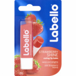 Labello Fruity Shine Strawberry, jahodový balzám na rty, 4,8 g