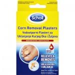 Scholl náplast na odstranění kuřích ok, 8x náplast + 8x léčivý polštářek
