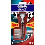 Gillette Blue3 strojek + náhradní hlavice 4 ks
