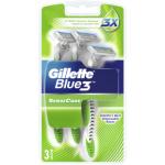 Gillette Blue 3 Sense Care jednorázové holicí strojky, balení 3 ks