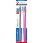 SOFTdent PROclinic Extra s 1131, zubní kartáček, měkký, balení 3 ks