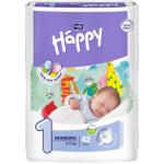 Bella Happy New Born (1), dětské pleny jednorázové, pro děti od 2 do 5 kg, balení 42 ks