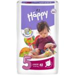 Bella Happy Junior, dětské pleny jednorázové, pro děti od 12 do 25 kg, balení 42 ks