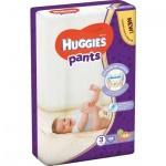 Huggies Pants Jumbo 3 plenkové kalhotky 6 až 11 kg, 44 ks