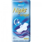 Micci Classic Night dámské vložky s křidélky, 10 ks