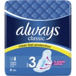 Always Classic Night dámské vložky, 8 ks
