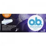 O.B. ProComfort Night Super tampony, 16 ks