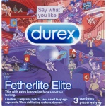 Durex Fetherlite Elite Emoji kondomy, 3 ks