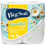 Big Soft Kamilka 3vrstvý toaletní papír, 160 útržků v roli, balení 4 role