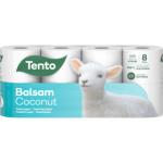 Tento Balsam Coconut 3vrstvý toaletní papír, role 142 útržků, 19,03 m, 8 rolí