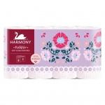 Harmony Soft Flora Folklor 3vrstvý toaletní papír, role 17,5 m, 8 rolí