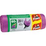 Fino pytle na odpad s uchy fialové 13 µ, rozměr 59 × 72 cm, 60 l, 20 ks