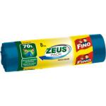 Fino Zeus pytle na odpad se zatahovací páskou pevné, rozměr 55 × 86 cm, 70 l, 8 ks