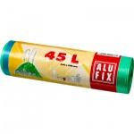 Alufix pytle na odpadky, zatahovací, silné 14 µ, rozměr 60 × 60 cm, objem 45 l, balení 20 ks