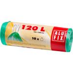 Alufix pytle na odpadky, zatahovací, silné 20 µ, rozměr 70 × 100 cm, objem 120 l, balení 10 ks