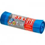 Alufix Premium pytle na odpadky, zatahovací, silné 20 µ, rozměr 53 × 60 cm, objem 35 l, balení 15 ks