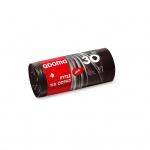 Quickpack QDoma pytle na odpadky, černé, LDPE, silné 24 µ, rozměr 50 × 60 cm, objem 30 l, balení 15 ks