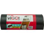 Quickpack viGO pytle na odpadky zatahovací, HDPE, silné 13 µ, rozměr 60 × 70 cm, objem 60 l, balení 10 ks
